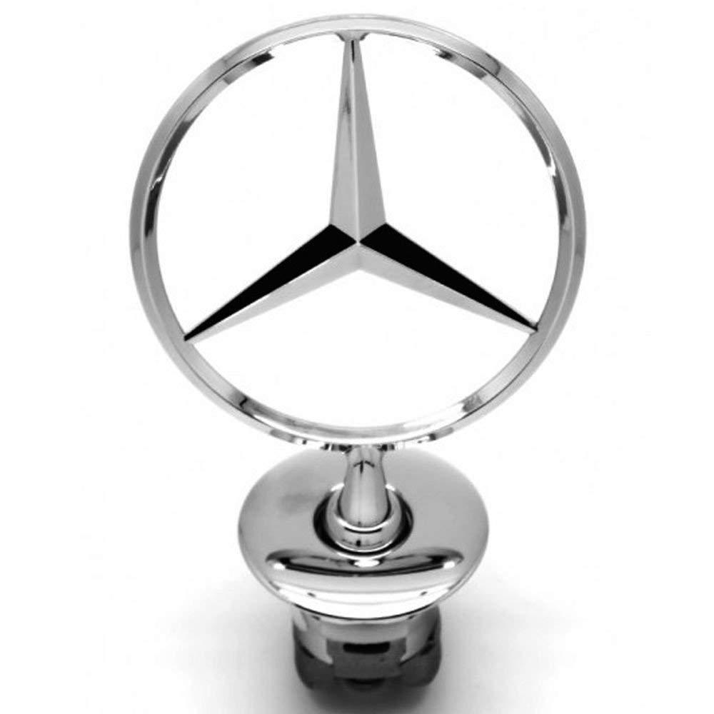 Mercedes Benz Vehicle Hood Star Emblem Badge,For Mercedes Benz all S serie,E serie,C serie,W series, etc. (Bright silver) Yuanxi Electronics