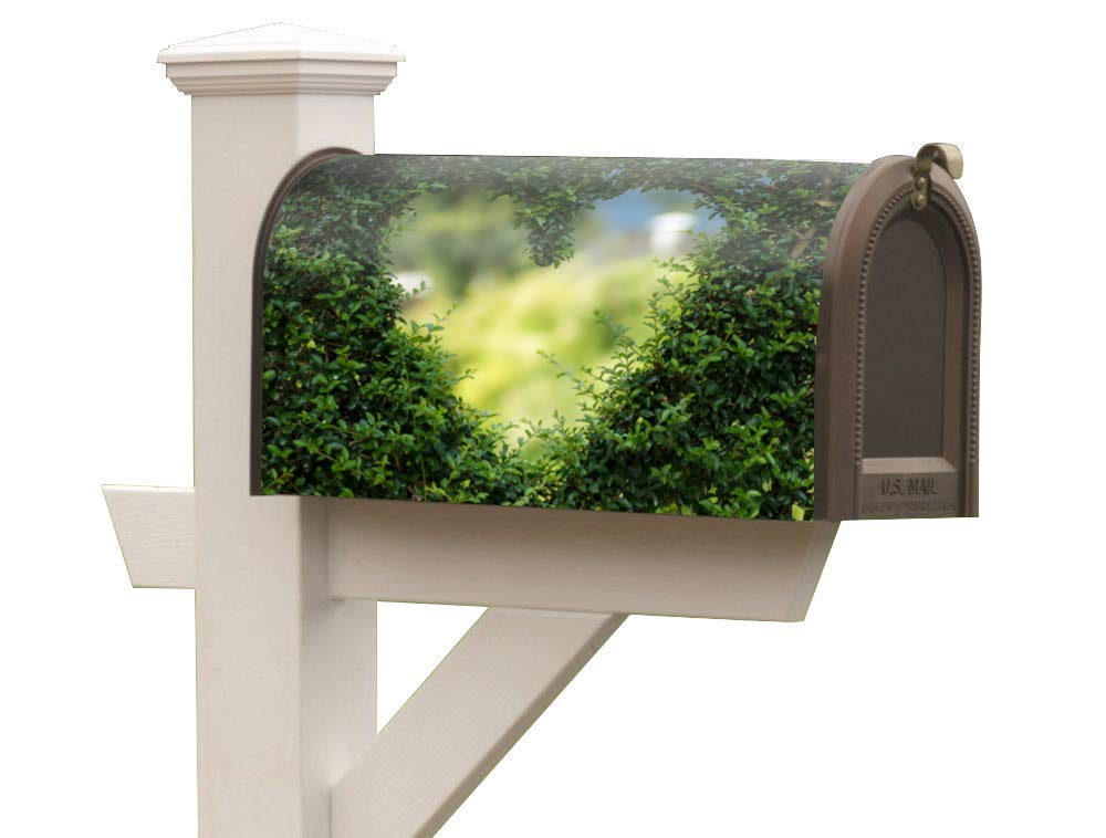 SANT LIF Magnetic Mailbox Decals Anti-Aging Mailbox Vertical Sign Durable Construction Background bark Fits Standard Size