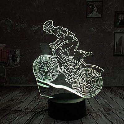 Cool Man Gifts bicicleta Ciclismo 3D Night Light Lámpara Led USB 7 ...