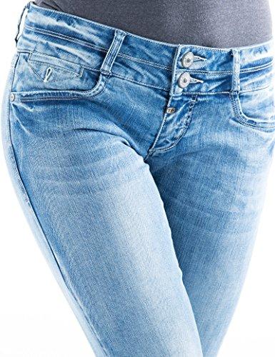 Donna Super Stretch Enya Slim 3499 cool Jeans Timezone Blau CBwRXwqn