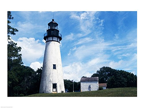 - Amelia Island Lighthouse Fernandina Beach Florida USA Art Print, 19 x 14 inches