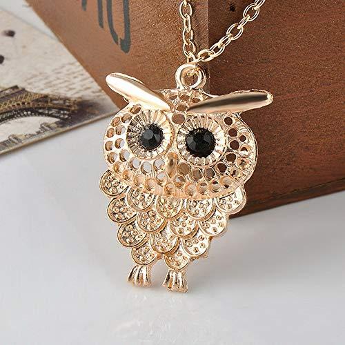 (Mikash Charm Vintage Women Bronze Owl Pendant Long Sweater Chain Necklace Jewelry Gift | Model NCKLCS - 41413 |)