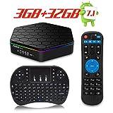 TRUEWELL T95Z Plus TV Box Android 7.1 Marshmallow Amlogic S912 3GB/32GB Octa Core 4K Video Player Dual WiFi 2.4/5GHz Bluetooth 4.0 with Mini Wireless Keyboard