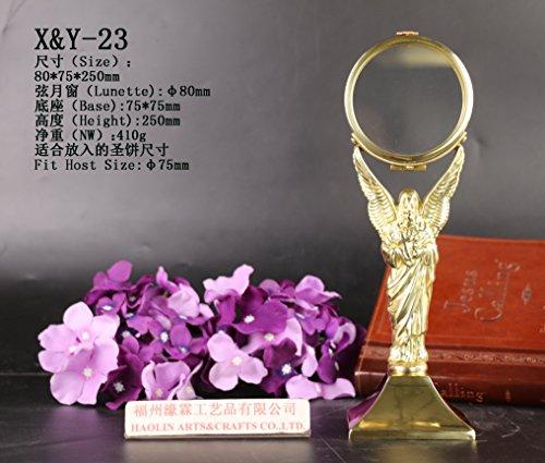 (HaoLin Brass Chapel Monstrance Lunette X&Y-23 )