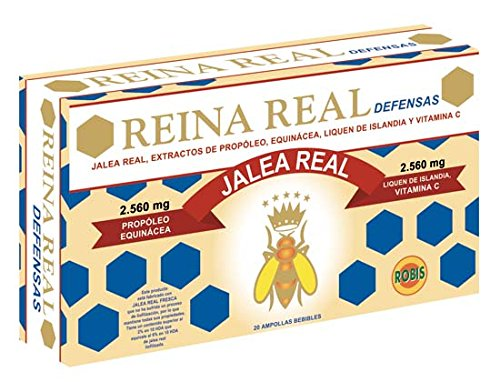 Robis Reina Real Defensas Jalea Real 2560 mg 20 Ampollas: Amazon ...