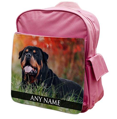 personalisierbar Rottweiler Hund ANIMAL PINK Rucksack Rucksack 258