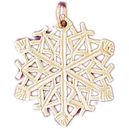 14k Yellow Gold Snow Flake Pendant 14k Yellow Gold Snowflake Pendant