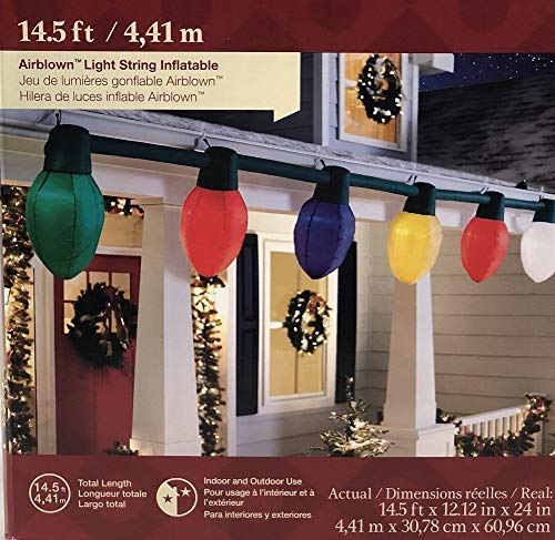 holiday living gemmy giant inflatable c9 christmas light bulb string outdoor by holiday living