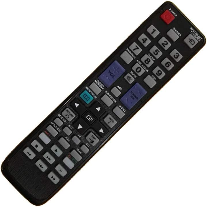New Generic Remote Control Fit for Samsung HT-BD2ST HT-BD2 HT-BD2ET/XAA HT-C655W HT-BD2T/XAA HT-C653W Blu-ray DVD Home Theater System
