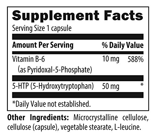Designs for Health - 5-HTP Synergy - 50mg + 10mg Vitamin B6 Mood & Relaxation Support, 90 Capsules by designs for health (Image #1)