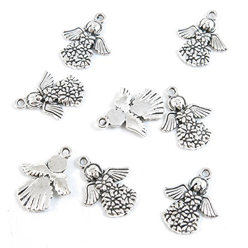 Qty 40 Pieces Antique Silver Tone Jewelry Making Supply Charms Findings A1TO6 Fairy Angel (Charms Tone Angel)