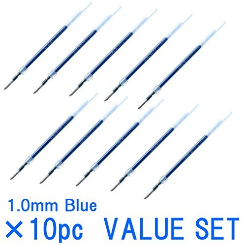 (Uni-ball Jetstream Fine Point Roller Ball Pens Refills for Standard Pen Type -1.0mm-blue Ink-value Set of 10 (With Our Shop Original Product Description) ...)