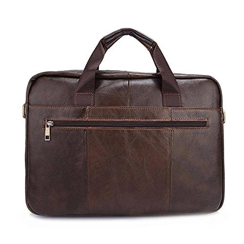 OURBAG Herren Vintage Aktentasche Handtasche Schultertasche Laptop Messenger Bag Umhängetasche Braun Mitte Braun BtiYQw