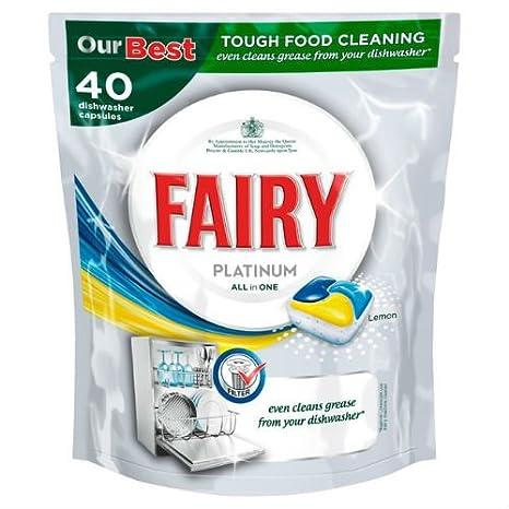 Fairy Platinum lavavajillas tabletas Limón 40 per pack Funda ...