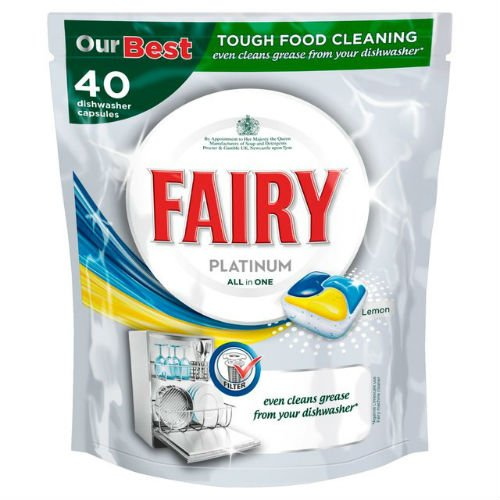 FAIRY Platinum lavavajillas tabletas Limón 40 per Pack Funda de 6 ...