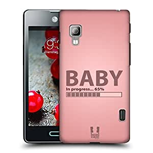 Head Case Designs Baby In Progress Bar Hard Back Case Cover for LG Optimus L5 II Dual E455
