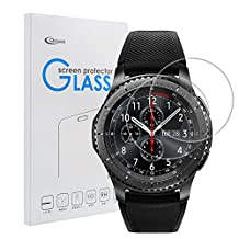 Samsung Gear S3 Classic / Frontier Screen Protector [2 PACK], Qosea Ultra-thin 2.5D 9H Hardness Crystal Clear Scratch Resistant Tempered Glass Screen Protector for Samsung Galaxy Gear S3 Smart Watch