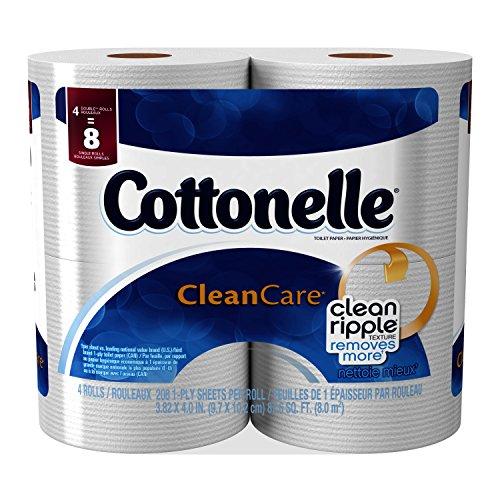 Cottonelle Clean Care Toilet Paper, Double Roll, 4 pk