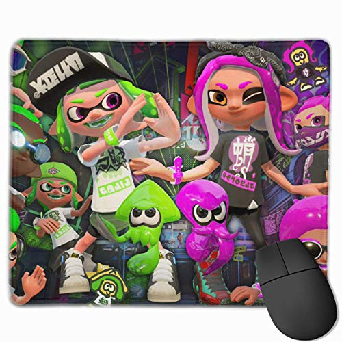 Spla-toon Team Gaming Mouse Pad Classic Computer Mousepad Non-Slip Rubber Mouse Mat for Home - Computer Mouse Team