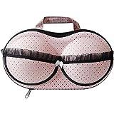 American Trends Bra Case Lingerie Underwear Packing Travel Organizer (FBA) Pink Dots
