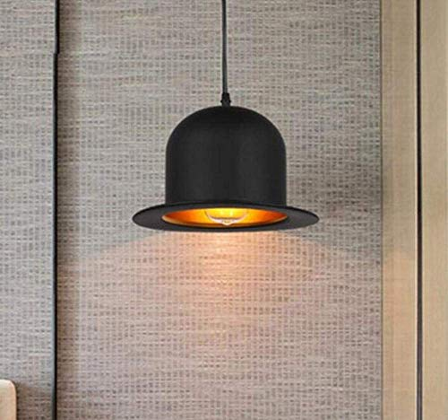 (Night Light Wall Lamp Led Lamp Creative Vintage Retro Loft Metal Iron Hat Lampshade Chandelier for Bar Bedroom Dining Room 1Xe27 Hanging Lamp Light Ing Adjustable Height for Kitchen Bedroom Living Ro)