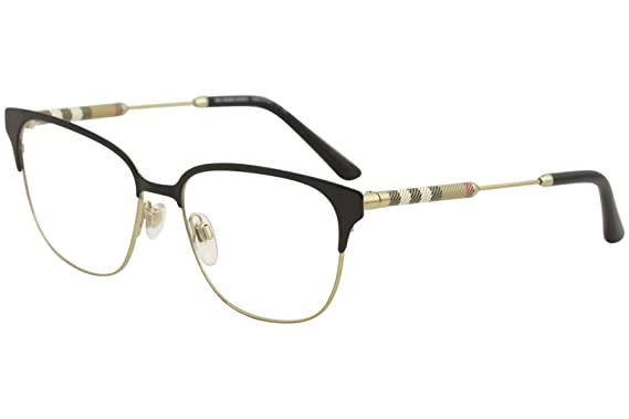 fcd19043fea5 Burberry Women s BE1313Q Eyeglasses Black Light Gold 53mm at Amazon ...