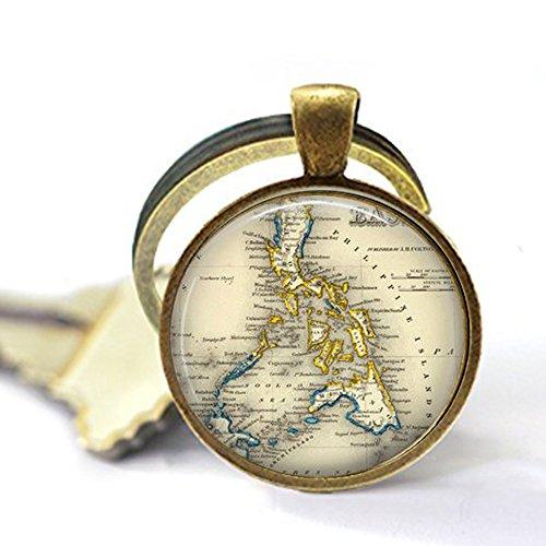 yijun Vintage Philippines - Filipina Jewelry - Southeast Asia Map - Philippines Keychain
