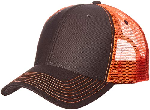 Ouray Sportswear Sideline Cap, Dark Grey/Neon Orange, Adjustable (Sideline Baseball Cap)