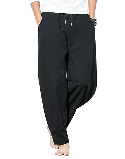 Andopa Tamaño más Harem Harem Pantalones de chándal de verano ...