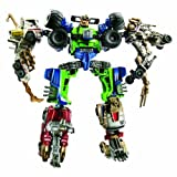 Transformers Power Core Combiners Series Robot Action Figure - MUDSLINGER Commander with 4 Destructicons (Heavy Hauler Drone, Armored Truck Drone, Dune Buggy Drone and Armored Junker Drone)