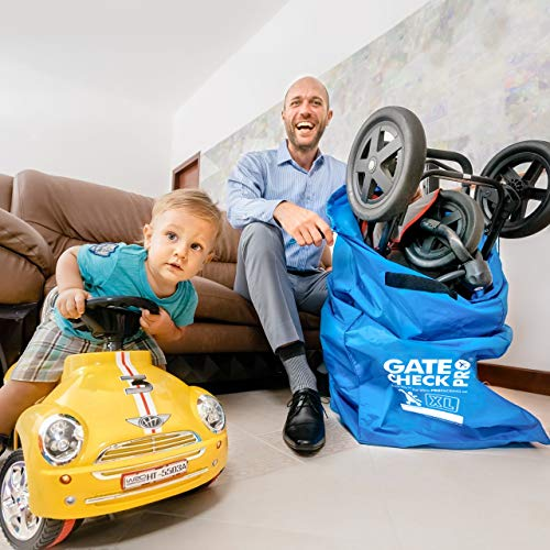 Gate Double Stroller for Quality Ballistic Nylon Featuring Padded Shoulder Straps Comfort Durability