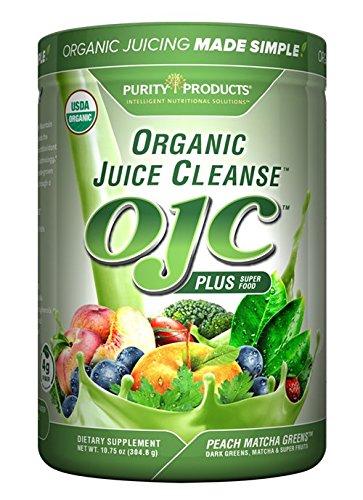 OJC – Matcha Peach Greens – Certified Organic Juice Cleanse, 10.75 oz