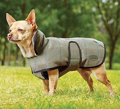 Weatherbeeta Tweed Dog Coat Olive 30