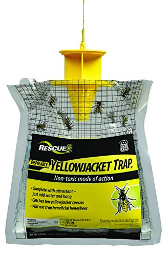 RESCUE! YJTD-W Non-Toxic Disposable Yellowjacket Trap, West of the Rockies (Back Feeder)