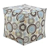 Brite Ideas Living & CO Raja Spa Seamed Beads Hassock, 17 by 17 by 17-Inch
