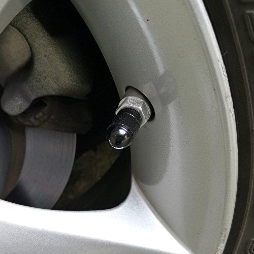 durable service SENZEAL 5 x Bullet Pneu Bouchons de valve en alliage d'aluminium Bouchons de poussière