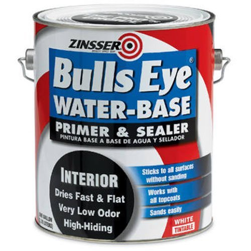 Zinsser 150731 Bulls Eye Water Based Primer-Sealer & Stain Killer Water Based Interior Flat Tintable 1 gallon by Zinsser