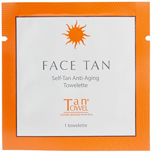 Tan Towel Face Tan, 15 Count