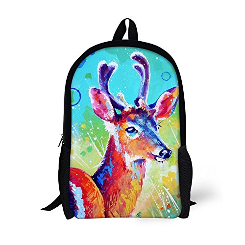 04 3D Print Pattern Varied Animal Patterns Bookbag Rucksack 31 Students 16 Adult Backpack Bag inches Amint College Unisex wpqCECT