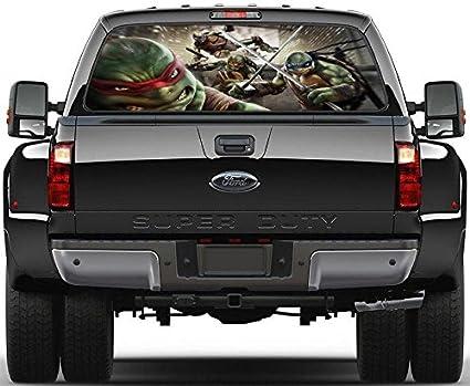 Amazon.com: Ninja Turtles TMNT Rear Window Decal Graphic ...