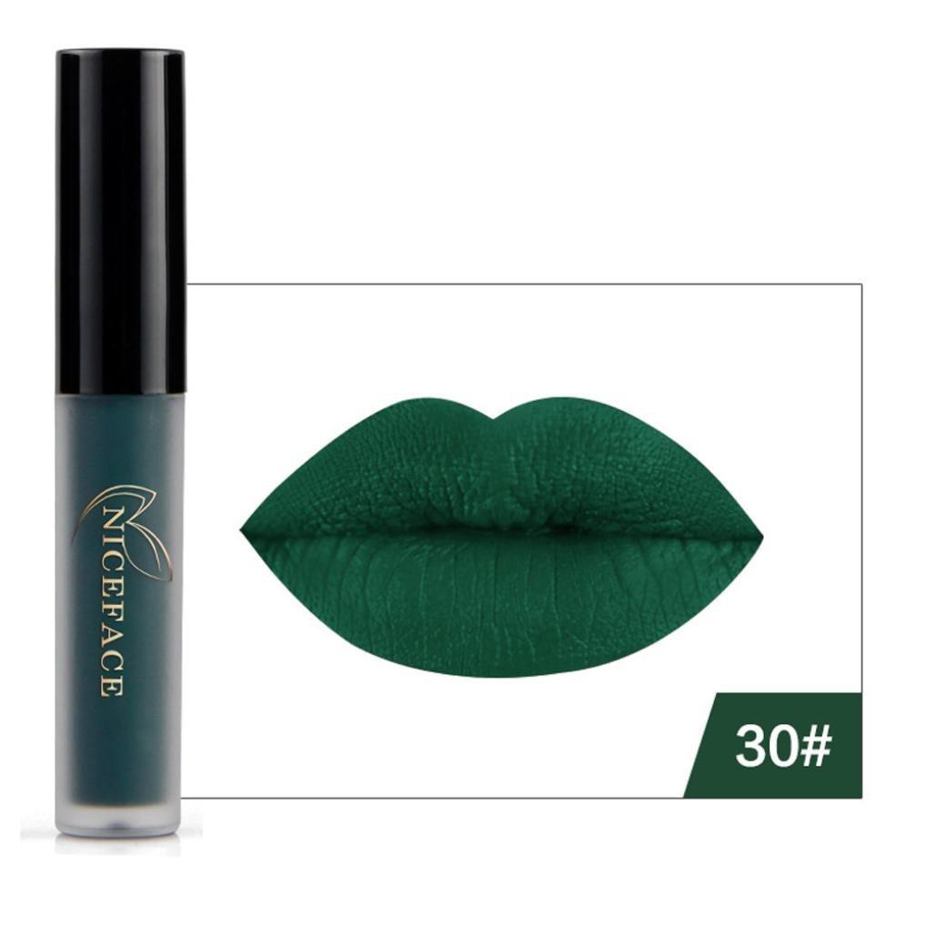 Lip Gloss, Lotus.flower New 9 Colors Halloween Style Lip Lingerie Matte Liquid Lipstick Waterproof Makeup (D)