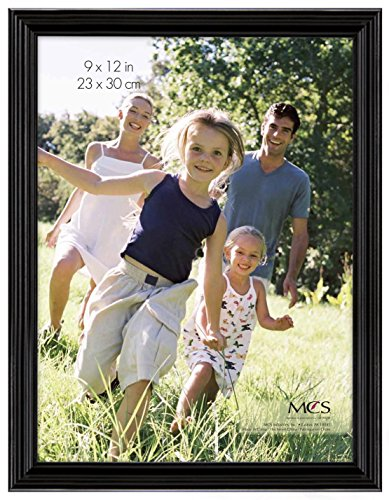 MCS 9x12 Inch Traditional Wood Frame, Black (65595)