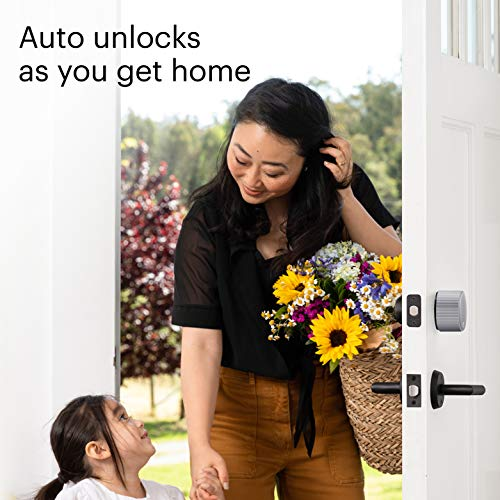 August Wi-Fi, (4th Generation) Smart Lock – Fits Your Existing Deadbolt in Minutes, Silver