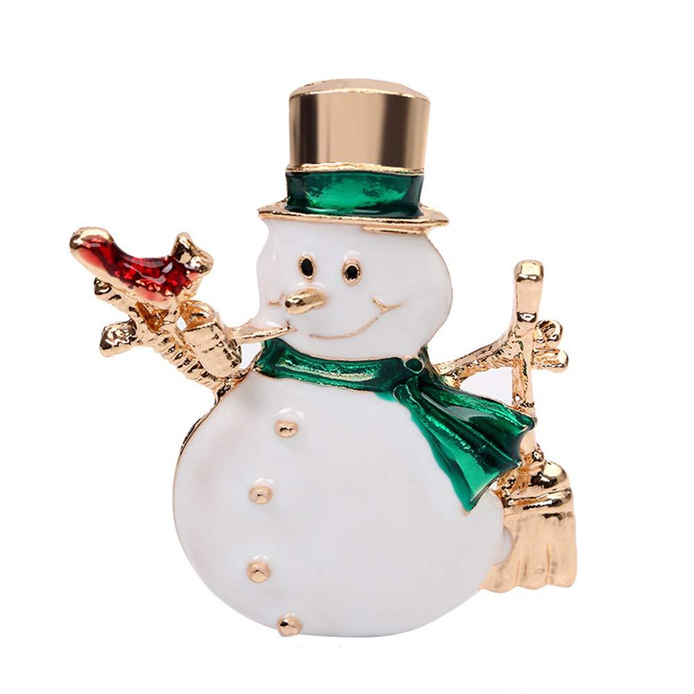 Finance Plan Brooch Pin for Girls Ladies Unisex Christmas Snowman Shape Brooch Pin Dress Scarf Handbag Accessory