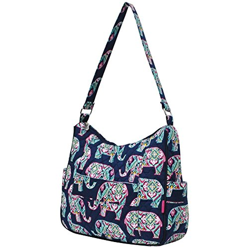 Hobo Cotton Blue Ngil Bag Elephant Shoulder Quilted Navy Eppqv
