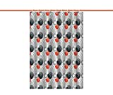 stand up shower ideas iPrint Fabric Shower Curtain [ Grey,Various Sized Creepy Colorful Circles Weird Rounds Graphic Print Modern Decorative Art Decorative,Black red Gray ] Decorative Curtain Ideas