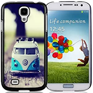 Beautiful Unique Designed Samsung Galaxy S4 I9500 i337 M919 i545 r970 l720 Phone Case With Miniature Volkswagen Van_Black Phone Case