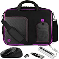 VanGoddy Laptop Messenger Bag w/ Flash Drive , Mouse & USB Hub for Acer R 13 2-in-1 13.3 Touch-Screen Chromebook