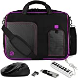VanGoddy Purple Laptop Messenger Bag w/Flash Drive, Mouse & USB Hub for Acer R 13 2-in-1 13.3'' Touch-Screen Chromebook