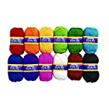 Colorations Acrylic Yarn Rainbow Colors Variety Pack Arts and Crafts Material for Kids and Classrooms (Set of 12 Colors)